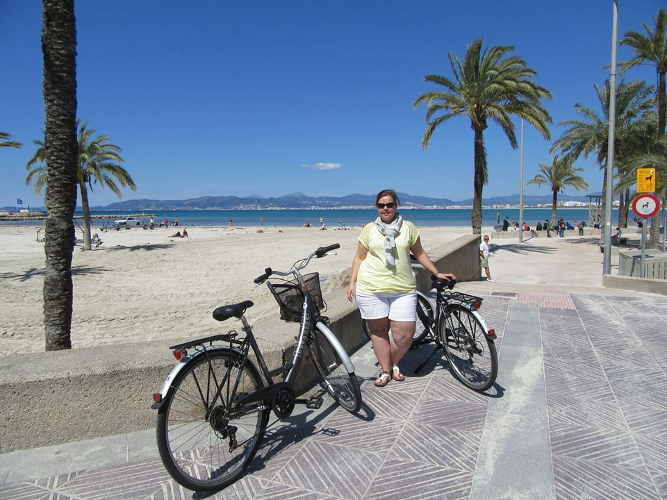 Lekker fietsen op de boulevard